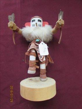 "Navajo Kachina Doll - Falcon By S. Barb One #402,477 9"""