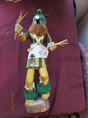 American Indian Kachina Doll - Zuni Warrior By Anna