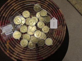 36 Sacajawea Coins In Bezels Ready To Be Hang In