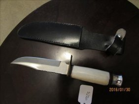 Hand Made Knife With Bone In Sheath Made In Pakistan
