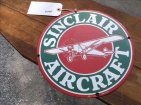 Enameled Metal Sign-sinclair Aircraft