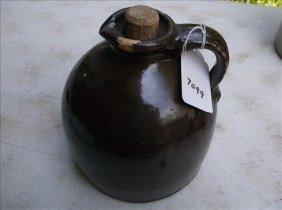 Brown Salt-glazed? Stoneware Molasses Jug