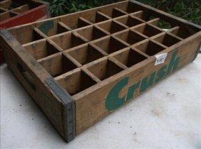 "Crush Divided Wood Soda/pop Crate 18"" X 11 1/2"" X 4""h"