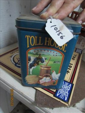 Vintage Nestle Toll House Can 6 1/4x 4 1/4