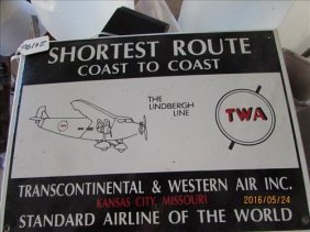 "Twa Shortest Route Sign 18x10"""