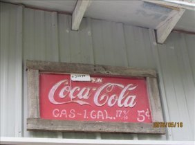 Coca Cola Sign Embossed 28x18