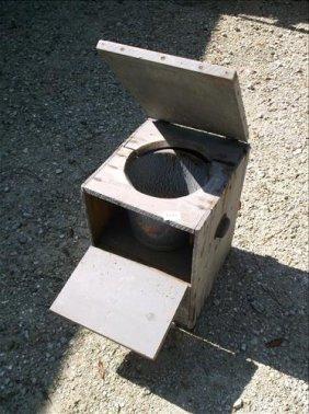 Old Porta-potty! Primitive Homemade Wood Toilet