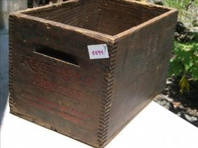 Rustic Wood Crate-remington Express Ammunition