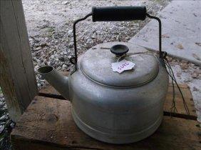 "Comet Aluminum Teapot W/wood Handle 10""h"