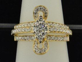 Lady's 14k Yg Diamond Fashion Ring