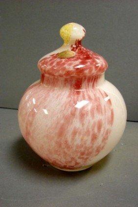 Murano Venetian Art Glass Covered Jar