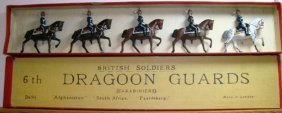 Britains Set # 8x Very RARE 6th Dragoons