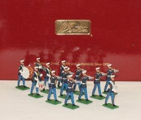 Britains Set #17780 Usmc Drum And Bugle Corps