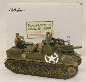 King And Country Wwii Dd30e Self Propelled Gun