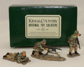 King And Country Wwii Fj04 German Machine Gun