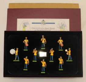 Britains Set 5391 U.s. Army Band In Yellow