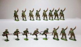 Britains Khaki Gas Mask Grenade Throwers