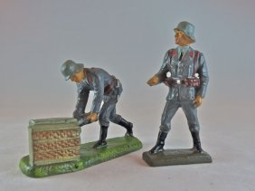"Lineol 2 Luftwaffe ""88"" Crew W/shells + At Ready"