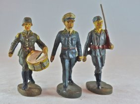 Elastolin 3 Luftwaffe Officer+drummer+rifle