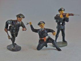 Scarce Elastolin Vienna Factory 3 Panzer Men