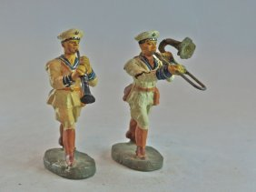 Elastolin 2 German Navy Band Clarinet+trombone