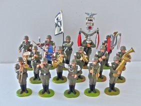 Elastolin 15 Piece Plastic German Army Band