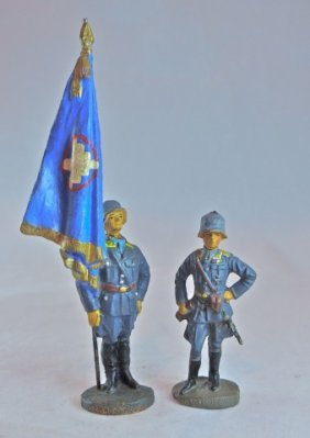Rare Elastolin Dlv Luftwaffe Flag+officer