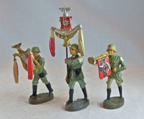 Elastolin 3 Different German Marching Musicians