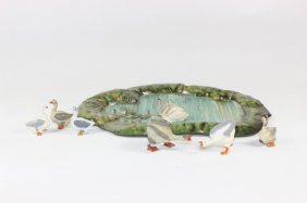 Britain #635 Tinplate Pond With Swan