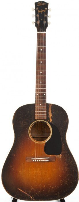 1944 Gibson J-45 Sunburst Acoustic Guitar.