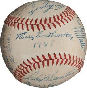 1948 Boston Braves Team Signed Baseball.