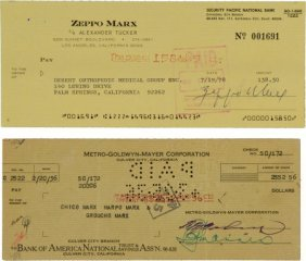1936 Marx Brothers Multi-Signed Check & More!