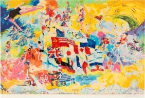 1976 Montreal Olympics Serigraph By LeRoy Neiman