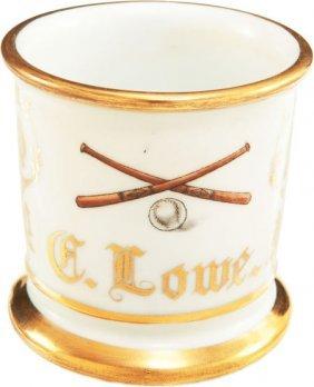 Circa 1900 Baseball-Themed Occupational Shaving