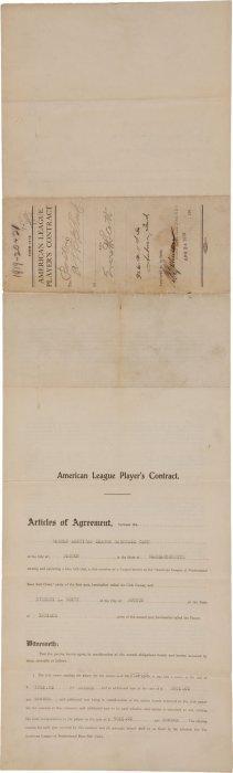 1919-21 Everett Scott Signed American League Pla