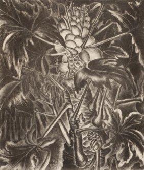MARY LIGHTFOOT (1889-1970) Banana Plant; Papayas