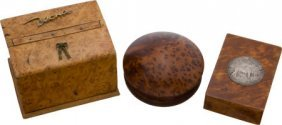 Lot Of 3 Collectible Maple Boxes.