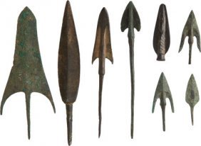 Lot Of Eight Assorted Amlesh, Luristani Bronze A