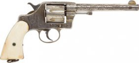 Engraved Colt Model 1892 Double Action Revolver