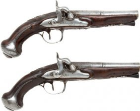 Matched Pair Of French Percussion Pistols Made B