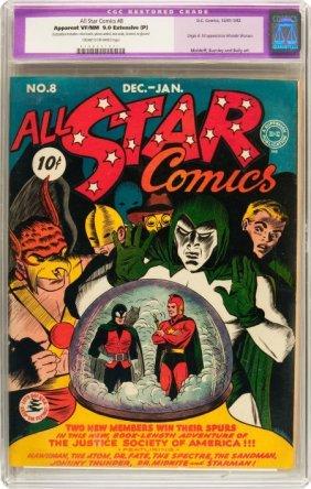 All Star Comics #8 (DC, 1942) CGC Apparent VF/NM