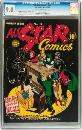 All Star Comics #19 (DC, 1943) CGC VF/NM 9.0 Off