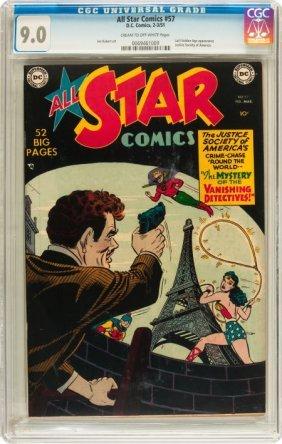 All Star Comics #57 (DC, 1951) CGC VF/NM 9.0 Cre