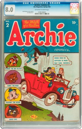 Archie Comics #2 (Archie, 1943) CGC VF 8.0 Off-w