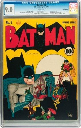 Batman #5 Billy Wright Pedigree (DC, 1941) CGC V