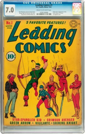 Leading Comics #1 (DC, 1941) CGC FN/VF 7.0 Cream