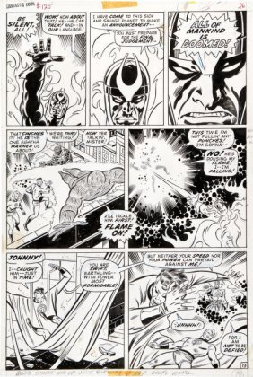 John Buscema And Joe Sinnott Fantastic Four #120
