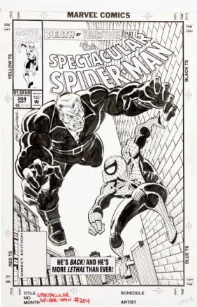 Sal Buscema The Spectacular Spider-Man #204 Tomb