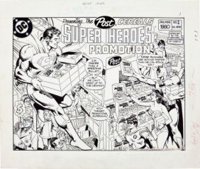 Dick Giordano Post Cereals Super Heroes Promotio