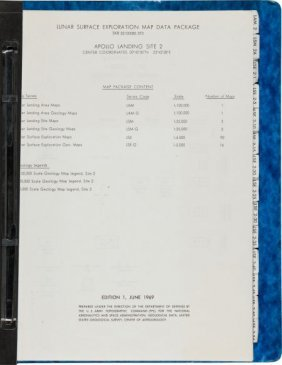 "Apollo 11 ""Lunar Surface Exploration Map Data Pa"